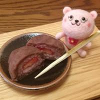 苺のぼた餅